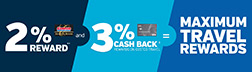 Executive Members receive a 2% reward, plus 3% when using the Costco Anywhere Visa Card By Citi